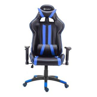 Cadeira Gamer Pro Reclinável Base Giratória Gallant Preto/Azul