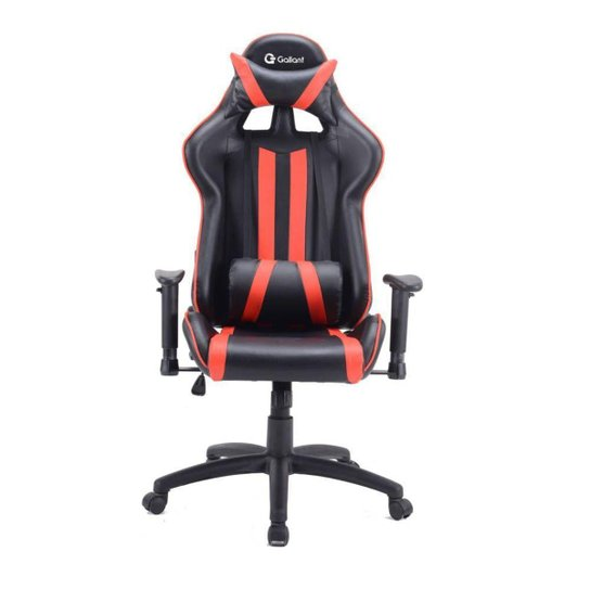 Cadeira Gamer Pro Reclinável Base Giratória Gallant Preto/Vermelho - Preto