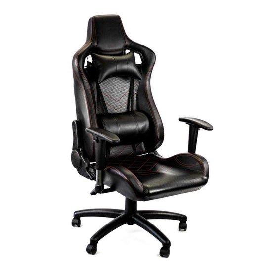 Cadeira Gamer Racer Giratória Gallant Altura Regulável Preta e Vermelha GCD100RPUA-PT - Preto