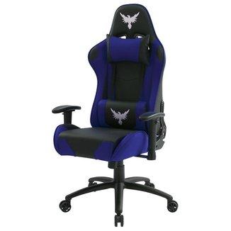 Cadeira Gamer Raven X-20  Estrutura de Metal, braço 2D , Reclinável até 180 Graus Preta / Azul
