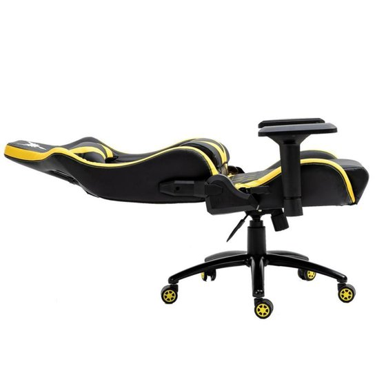 Cadeira Gamer Raven X-30 Estrutura em metal, braço 4D, encosto reclinável até 180° Preta / Amarela - Preto+Amarelo