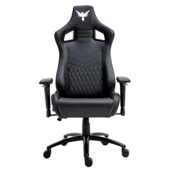 Cadeira Gamer Raven X-30 Estrutura em metal, braço 4D, encosto reclinável até 180° Preta - Preto