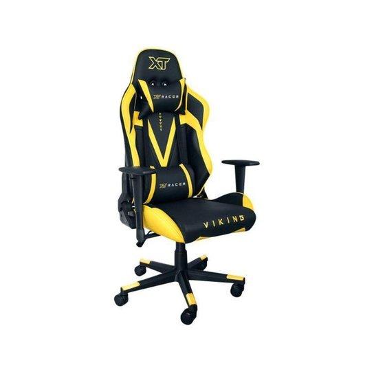 Cadeira Gamer XT Racer Reclinável Preta - Preto+Amarelo