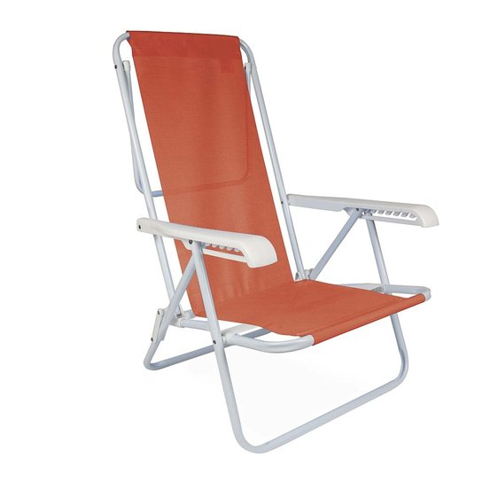 Cadeira Reclinável Aço 8 Posições - Coral