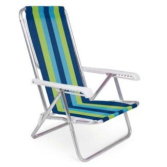 Cadeira Reclinável Alumínio 8 Posições