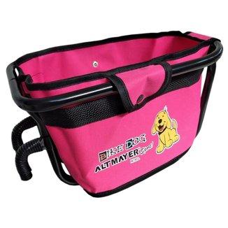 Cadeirinha Cestinha Altmayer AL59RO Bike Dog para Bicicleta Pink