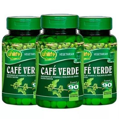 Café Verde - 3x 90 Comprimidos - Unilife - Unissex