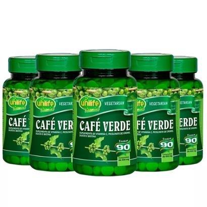 Café Verde - 5x 90 Comprimidos - Unilife - Unissex