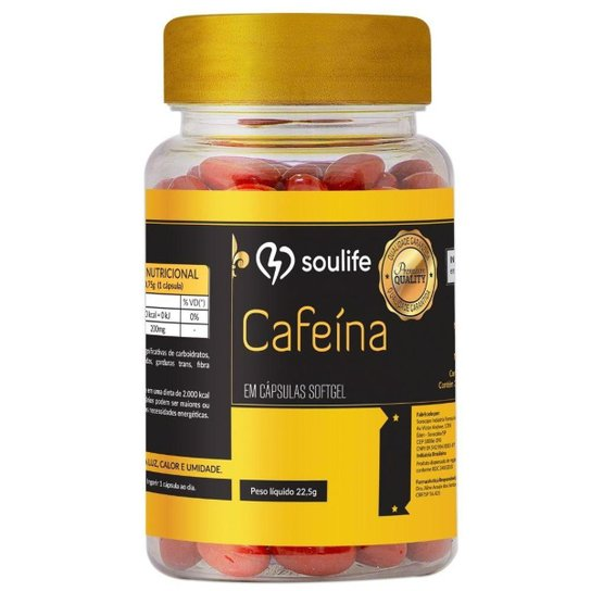 Cafeína - 30 Cáps - Soulife - Café