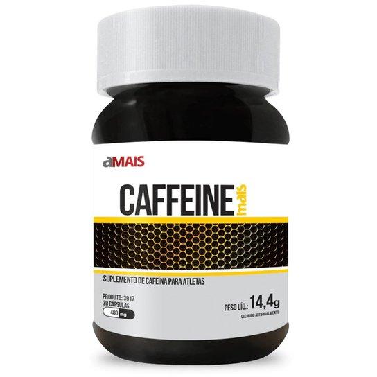 Cafeína Caffeine 30 Cáps De 480Mg - Preto