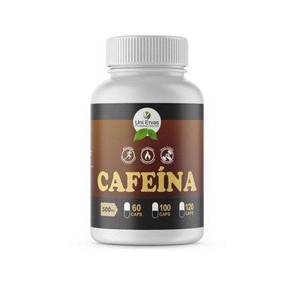 Cafeína Pura 500mg Original Uniervas 120 Cápsulas