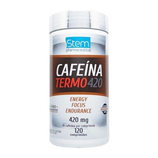 Cafeína TERMO 420mg (120 Comprimidos) - Stem Pharmaceutical -