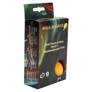 Caixa Com 6 Bolas Para Tenis De Mesa 2 Estrelas Gold Sports