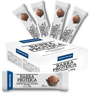 Caixa De Barra Proteica Gourmet Brigadeiro - 12 Unidades Newnutrition