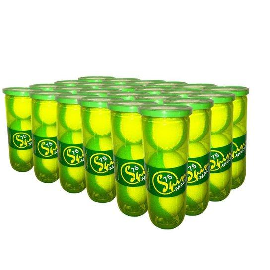 Caixa de Bola de Tênis Spin Soft 75 Verde Caixa com 24 Tubos SPIN - Amarelo+Verde