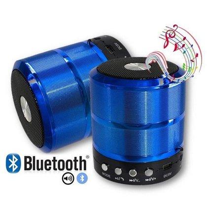 Caixa De Som Bluetooth 887 Fm Academia Aula Piscina Azul