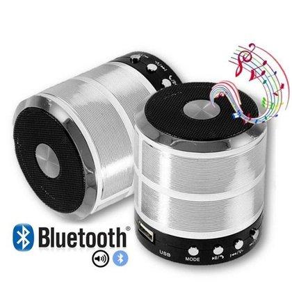 Caixa De Som Bluetooth 887 Fm Academia Aula Piscina Prata