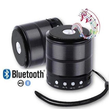 Caixa De Som Bluetooth 887 Fm Academia Aula Piscina Preto