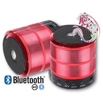 Caixa De Som Bluetooth 887 Fm Academia Aula Piscina Vermelho