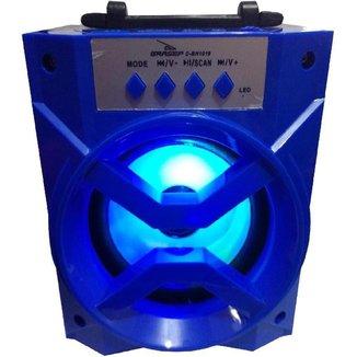 Caixa De Som Bluetooth Portátil D-Bh1019 Com Rádio Fm Usb Tf azul