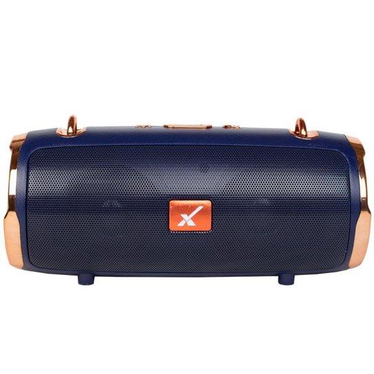 Caixa de Som Bluetooth Portátil Original Com Alça Metallic Premium Sem Fio - Azul