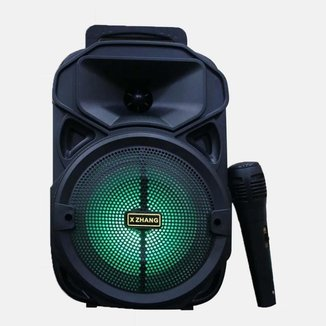 Caixa De Som Bluetooth Rádio FM Com Microfone XZJ-3382