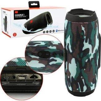 Caixa De Som Bluetooth USB Charge 3 Camuflada