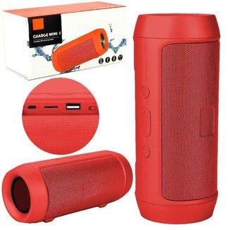 Caixa De Som Charge 2 Bluetooth Mini vermelha