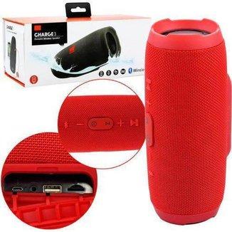 Caixa De Som Charge 3 Bluetooth vermelha