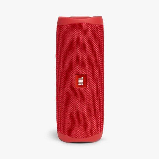 Caixa De Som Jbl Flip 5 Sem Fio Prova D'Água - Vermelho