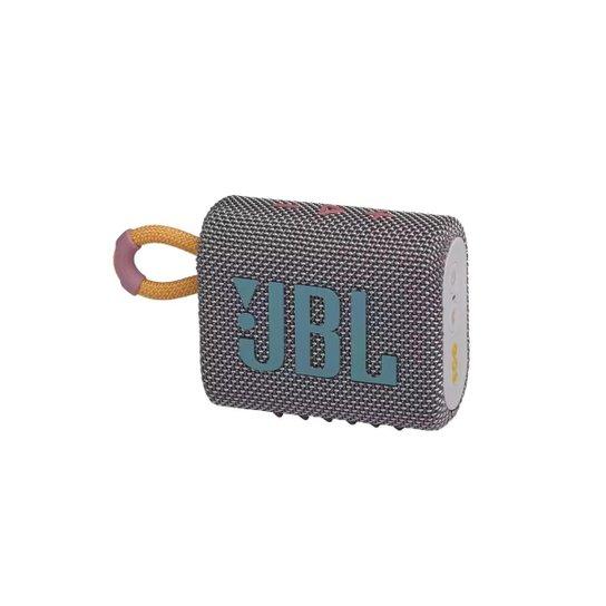 Caixa De Som Jbl Go 3 Portátil Com Bluetooth Cinza - Cinza