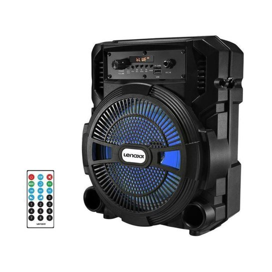 Caixa de Som Lenoxx CA 80 Bluetooth Portátil - Preto