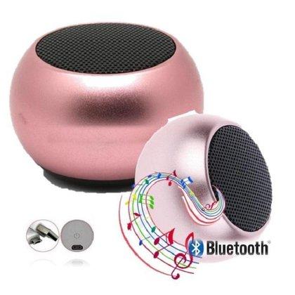 Caixa De Som Metal Rosa Bluetooth Academia Festa Piscina