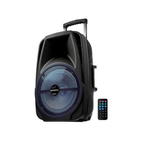 Caixa de Som Mondial CM-500 Bluetooth Amplificada - 500W USB CM-500 - Preto