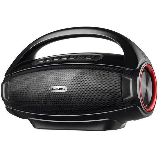 Caixa de Som Mondial Monster Sound II SK-07 - Preto+Vermelho