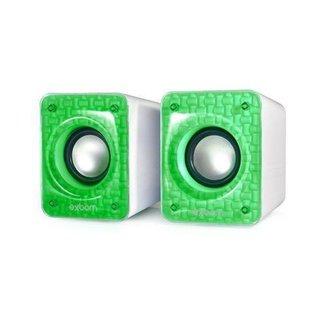 Caixa De Som Para Computador E Smartphone 6w Cs-86 Exbom Verde