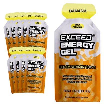 Caixa Gel Carboidrato Exceed Energy Banana 10un
