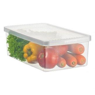 Caixa Plástico Organizadora Para Legumes E Salada Médio Ordene
