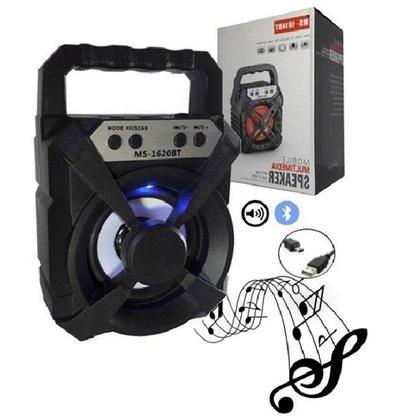 Caixa Portátil de Som Wireless Bluetooth MS-1620BT