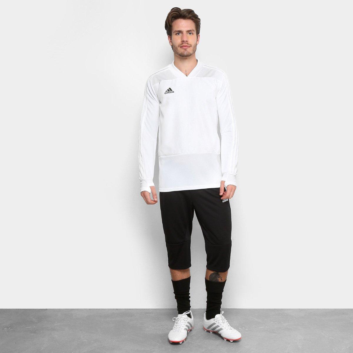 31a75a8d74 Calça 3 4 Adidas Condivo 18 Masculina - Preto e Branco - Compre ...