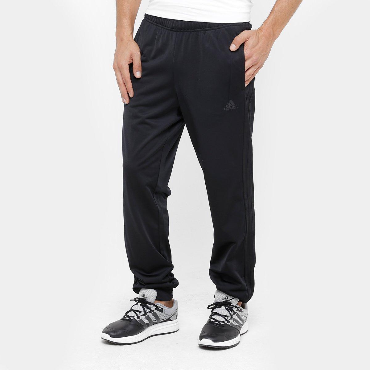 a410b44c9d054 Calça Adidas Ess 3S Masculina - Preto - Compre Agora