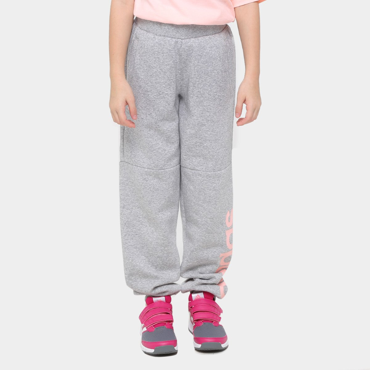 de6db17a12 Calça Adidas Lk Lin Sweat Pants Infantil