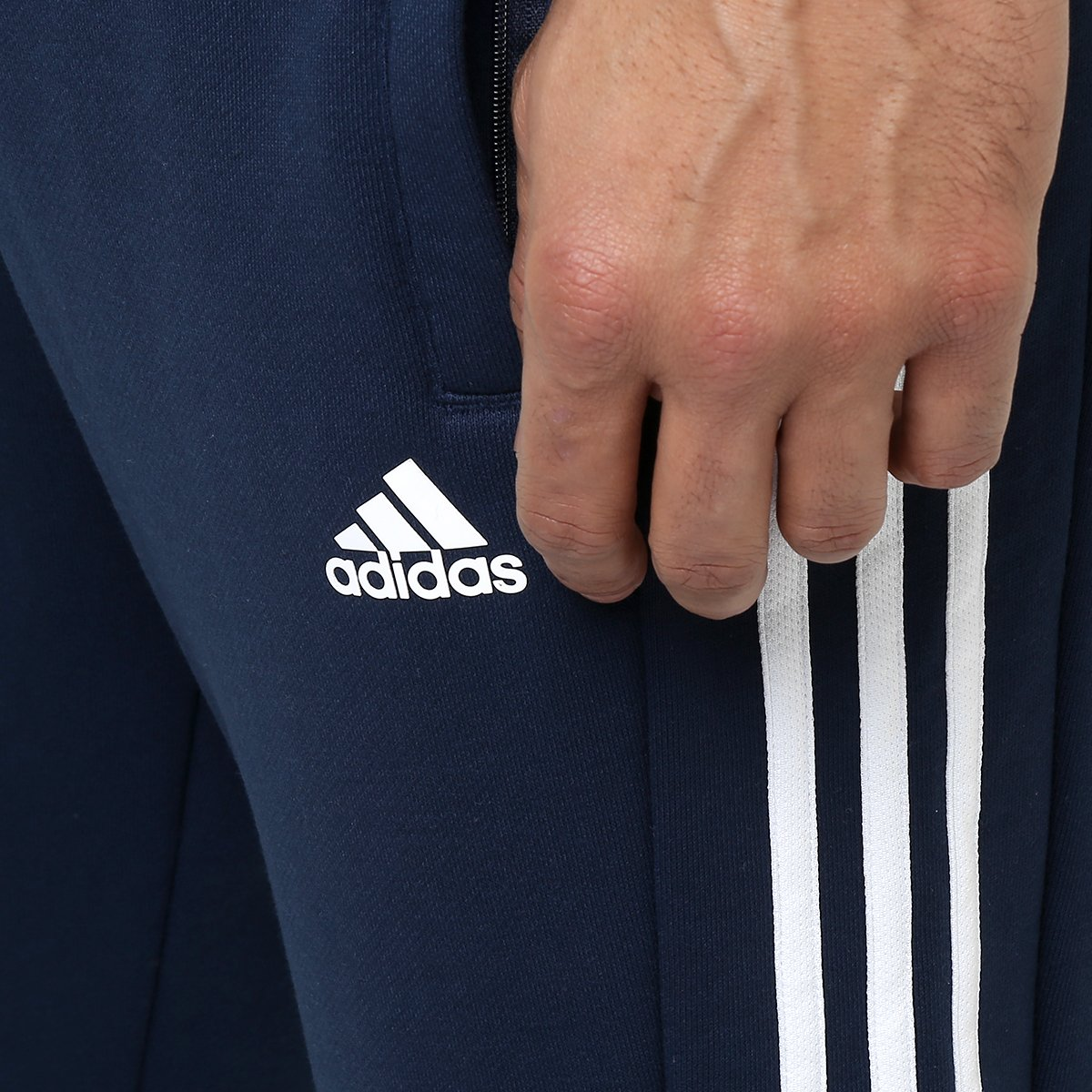 Calça Adidas Originals Tap Auth 1 0 Marinho e Branco