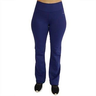Calça Bailarina Flare com Cós Largo New Zealand Azul Marinho