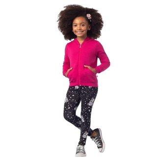 Calça Brandili Legging Em Malha Cotton Menina Infantil