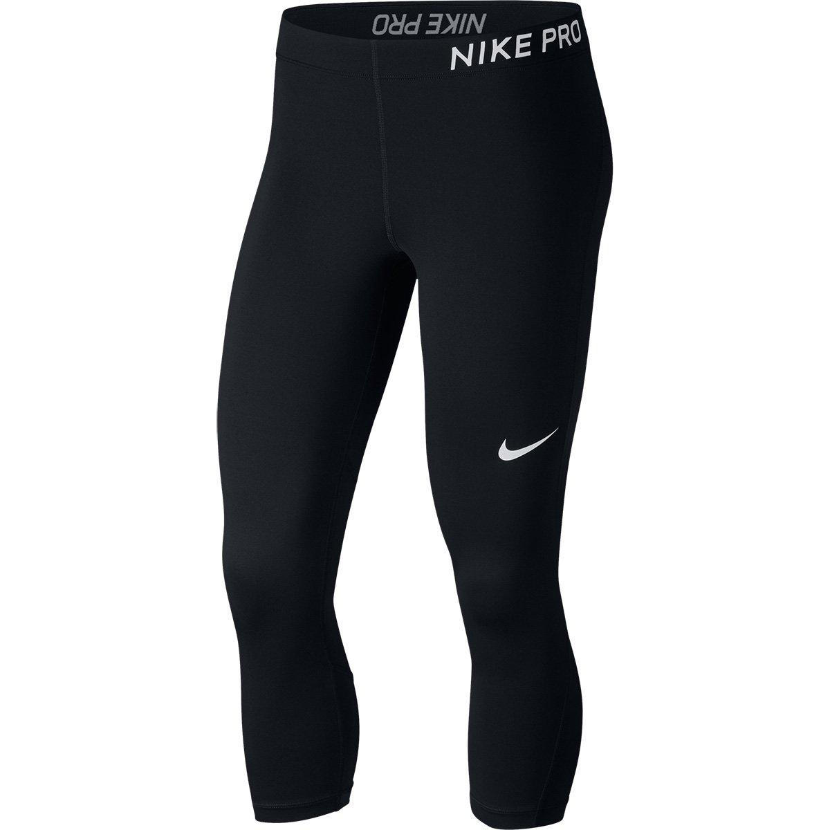 Calça Calça Feminina Capri Capri Preto e Nike Pro Branco q1RXw