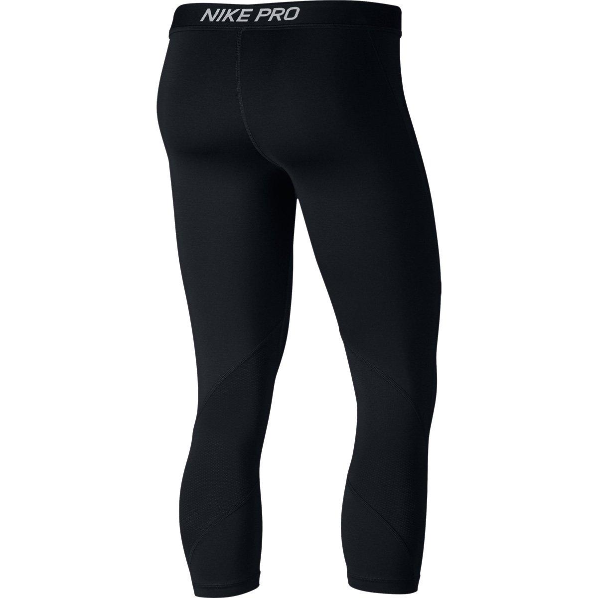 Nike Pro Calça Feminina e Calça Branco Capri Capri Preto xIqat1AB