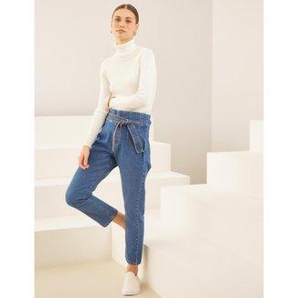 Calça Clochard Gisele Jeans Escuro - 46
