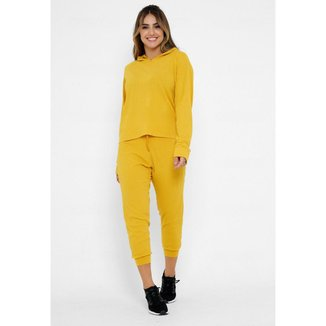 Calça Comfy Jogger FitUrban Amarelo Canelado