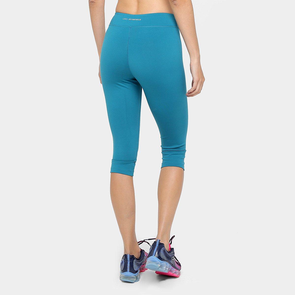 Calça Essential Feminina Olympikus Azul Corsário Petróleo Calça Corsário 1qrI1